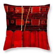 Red Brick And Sticks Throw Pillow