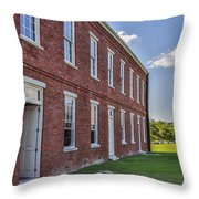 Red Brick Antiquity Throw Pillow