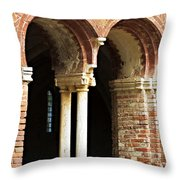 Red Brick Arches Regular Throw Pillow