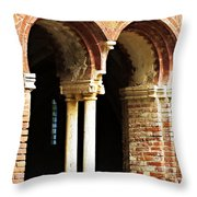 Red Brick Archway Soft Throw Pillow