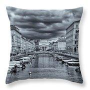 Red Bridge Canal Throw Pillow