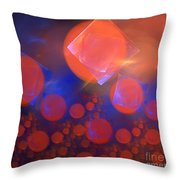 Red Bubble Suns Throw Pillow