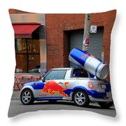 Red Bull Car Throw Pillow