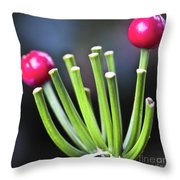 Red Bullets Throw Pillow