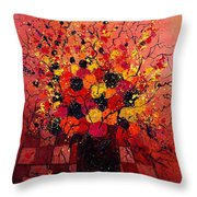 Red Bunch Throw Pillow