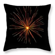Red Burst Throw Pillow by Phill Doherty