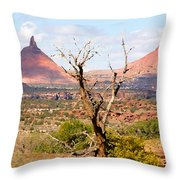 Red Buttes Throw Pillow