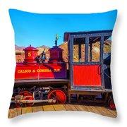 Red Calico Odessa Rr Throw Pillow