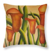 Red Callas Throw Pillow