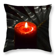 Red Candle Throw Pillow