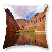 Red Canyon Reflections Throw Pillow