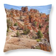 Red Canyon Trail Throw Pillow