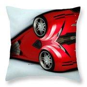 Red Car 007 Throw Pillow
