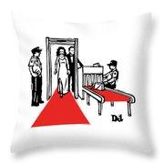 Red Carpet Security Throw Pillow