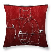 Red Cats Throw Pillow