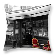 Red Chairs Throw Pillow