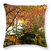 Red Charm Throw Pillow