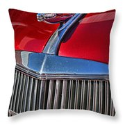 Red Chevrolet Grill And Hood Ornament Throw Pillow