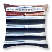 Red Chevrolet Grill Throw Pillow