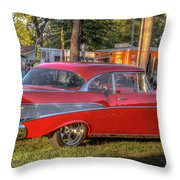 Red Chevy  Throw Pillow