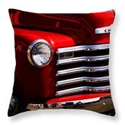 Red Chevy Truck Throw Pillow