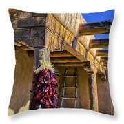 Red Chillies At New Years Throw Pillow