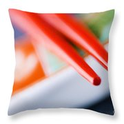 Red Chopsticks Throw Pillow