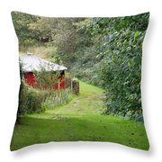 Red Cistern Throw Pillow