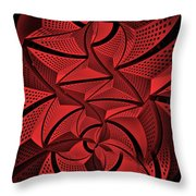 Red City 3 Throw Pillow