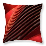 Red Classic Car Details Throw Pillow