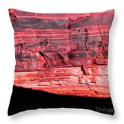 Red Cliff Throw Pillow