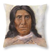Red Cloud Throw Pillow by Brandy Woods
