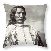 Red Cloud Chief Throw Pillow