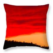 Red Cloud Throw Pillow