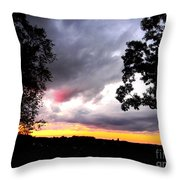 Red Cloud, Pittsburgh, Pa  Throw Pillow