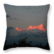 Red Cloud Throw Pillow