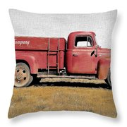 Red Coke Truck Throw Pillow