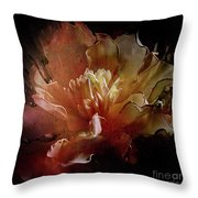 Red Composition Throw Pillow