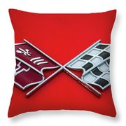 Red Corvette Throw Pillow