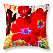 Red Cosmos Throw Pillow