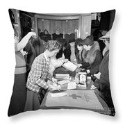 Red Cross, 1941 Throw Pillow