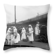 Red Cross: Canteen, C1918 Throw Pillow