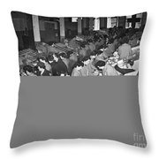 Red Cross: Care Packages Throw Pillow