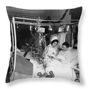 Red Cross: Christmas Throw Pillow