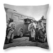 Red Cross: Clubmobile Throw Pillow