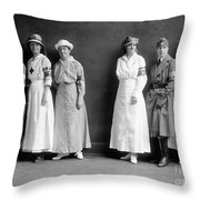 Red Cross Corps, C1920 Throw Pillow