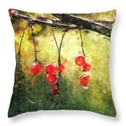 Red Currants Throw Pillow