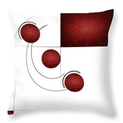Red Curvature Throw Pillow