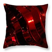 Red Curves Throw Pillow