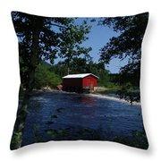 Red Dam In Summer #2 Throw Pillow